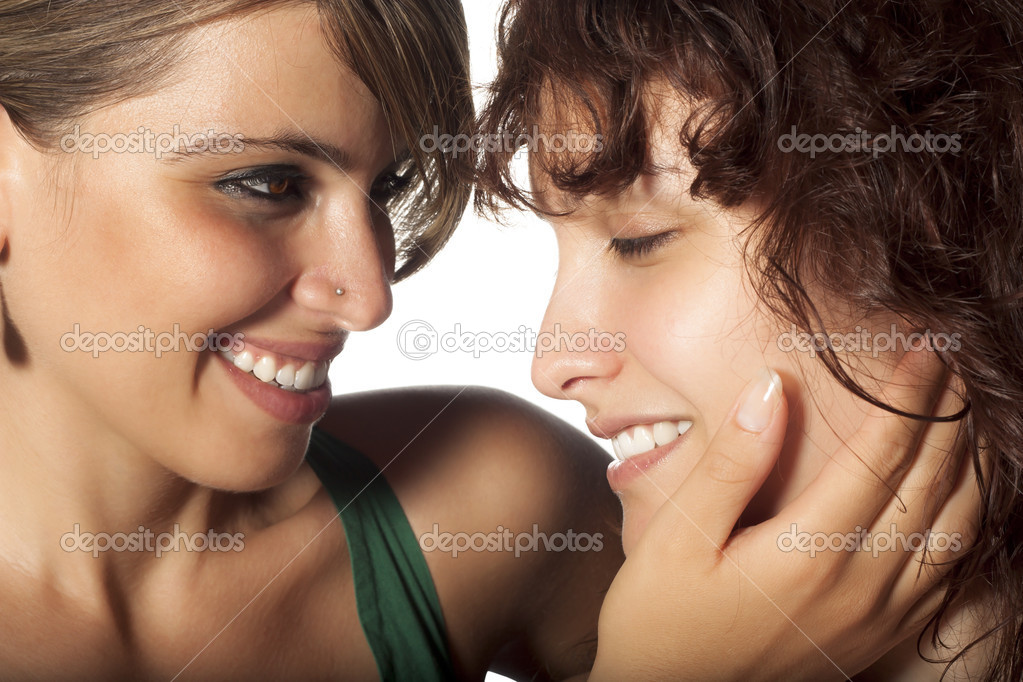Lesbian caress