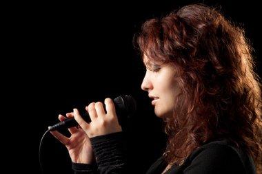 Woman Singing Tenderly