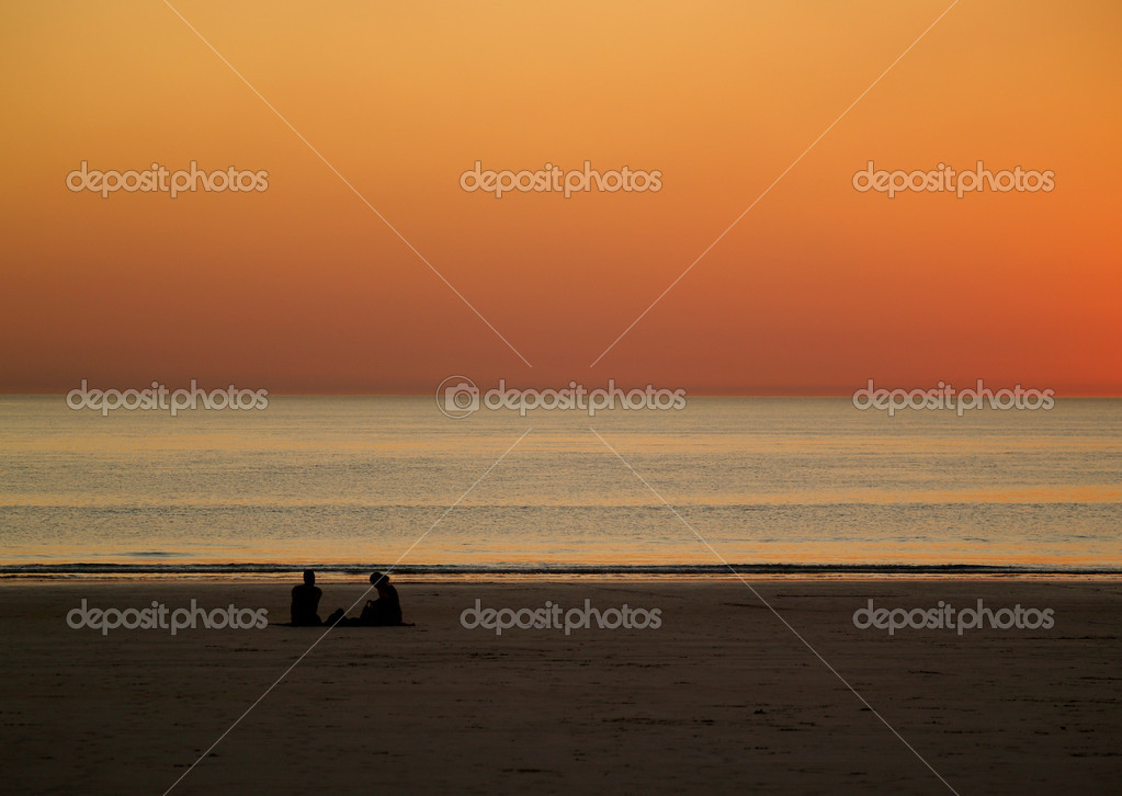 Romantic Sunset at Beach