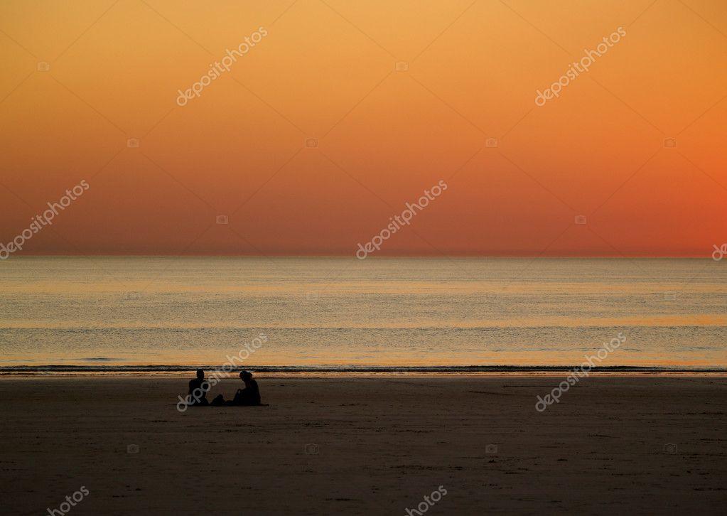 Romantic Sunset at Beach