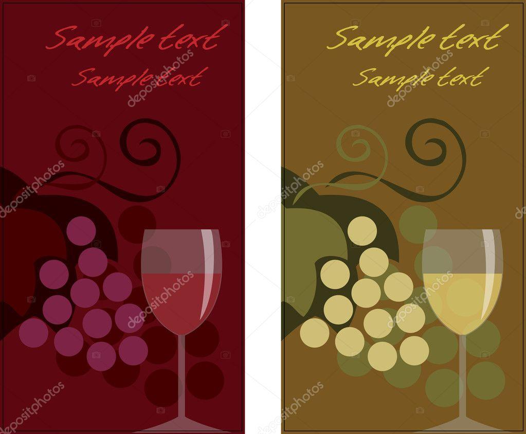 Modele De Carte Visite Thematique Du Vin Illustration Stock