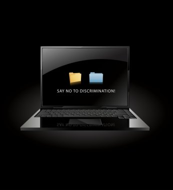 Say no to discrimination- windows and mac OS X folder face to face