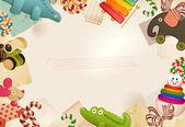Fotografie hračky, bonbóny  dětství vzpomínky