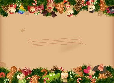 Christmas - toys background