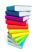 Stoh knih barevné