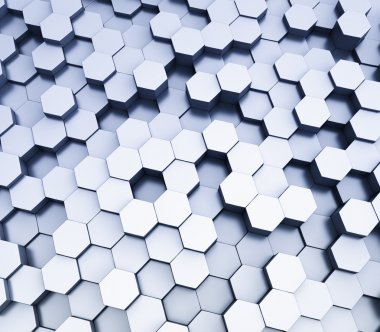 Abstract hexagonal cubes background