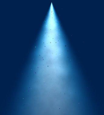 Blue spot Light Beam