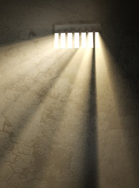 Sunlight in a prison window