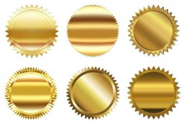 Set of golden seal