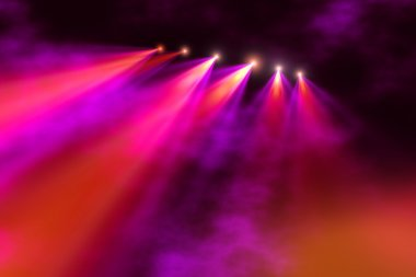 Colorful concert lighting