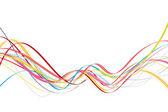 Fotografie Dynamische Wellen mit verschiedenen Farben