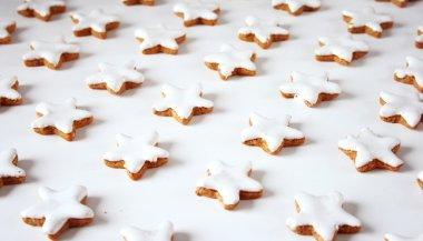 Christmas cookies in star shape