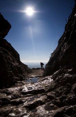 Rambler backlighting on mountain
