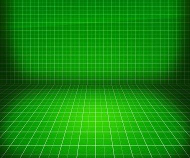 Green Blueprint Stage Background