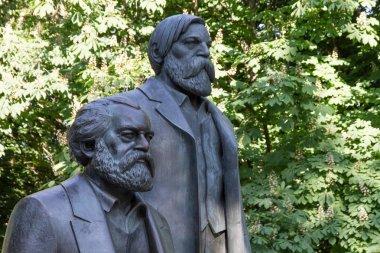 Statue of Karl Marx and Friedrich Engels in Berlin
