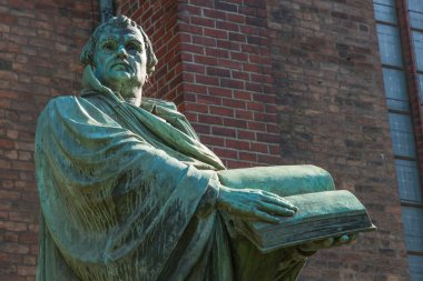 Statue of the German church reformator Martin Luther