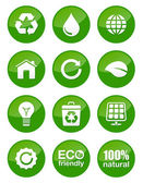 Photo Green eco glossy buttons