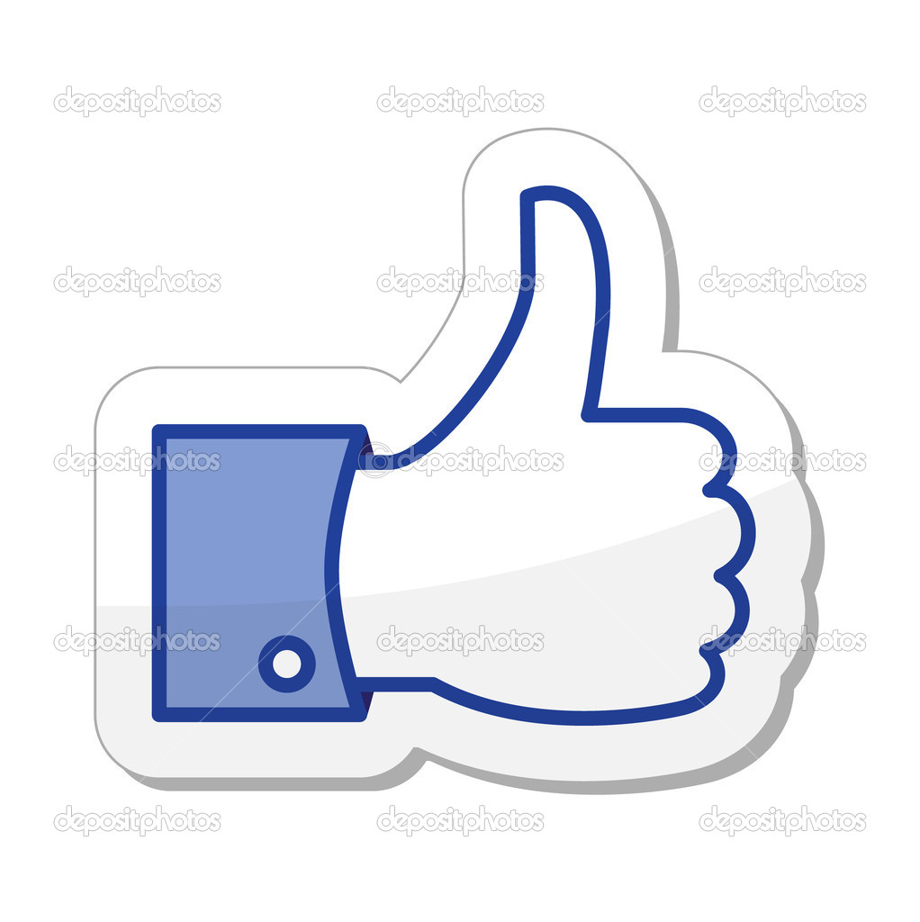 facebook like button stock vector redkoala 10684320 rh depositphotos com facebook like vector free facebook like vector logo