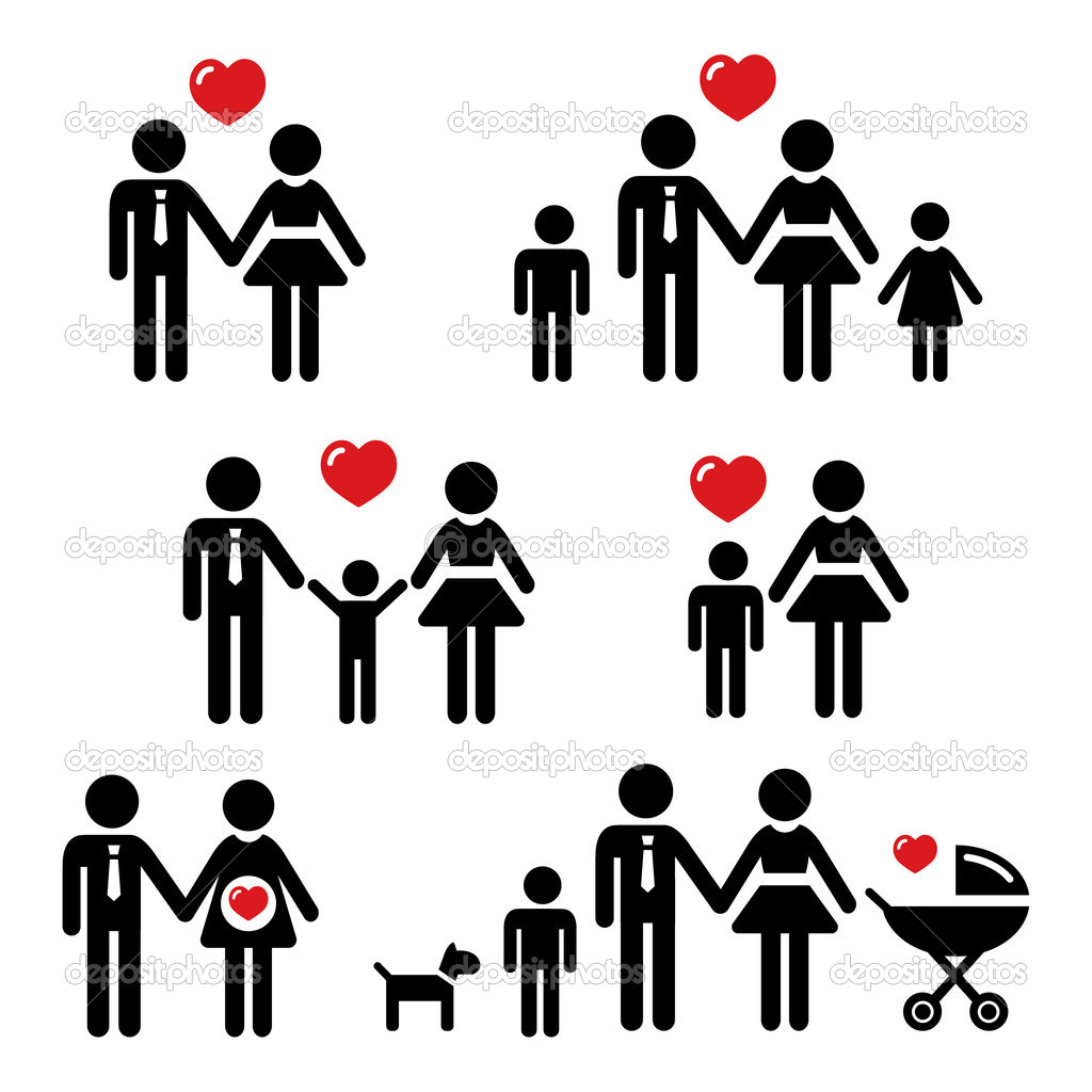 familie symbole stockvektor redkoala 10728157. Black Bedroom Furniture Sets. Home Design Ideas