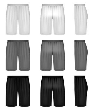 Vector shorts - shades of gray clothing set