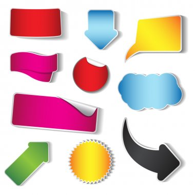 Vector sticker and tag collection, set of 10 pieces