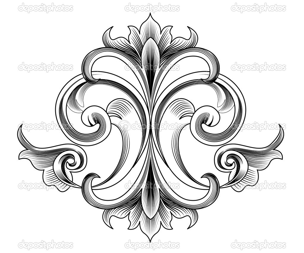 d coration de style victorien vector image vectorielle robisklp 10557062. Black Bedroom Furniture Sets. Home Design Ideas