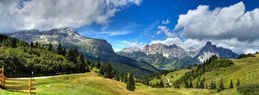 Dolomites mountains landscape, Alta Badia