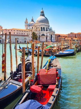 Gondolas on Canal Grande in Venice, Italy