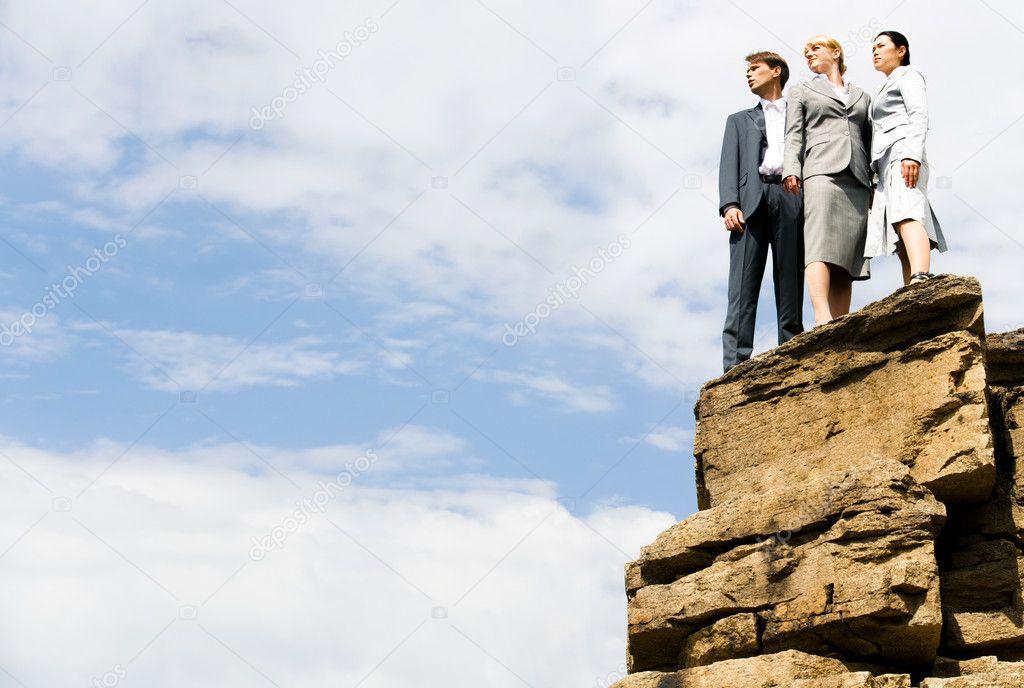 On mountain heights