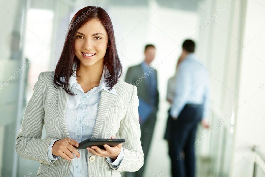 Business brunette