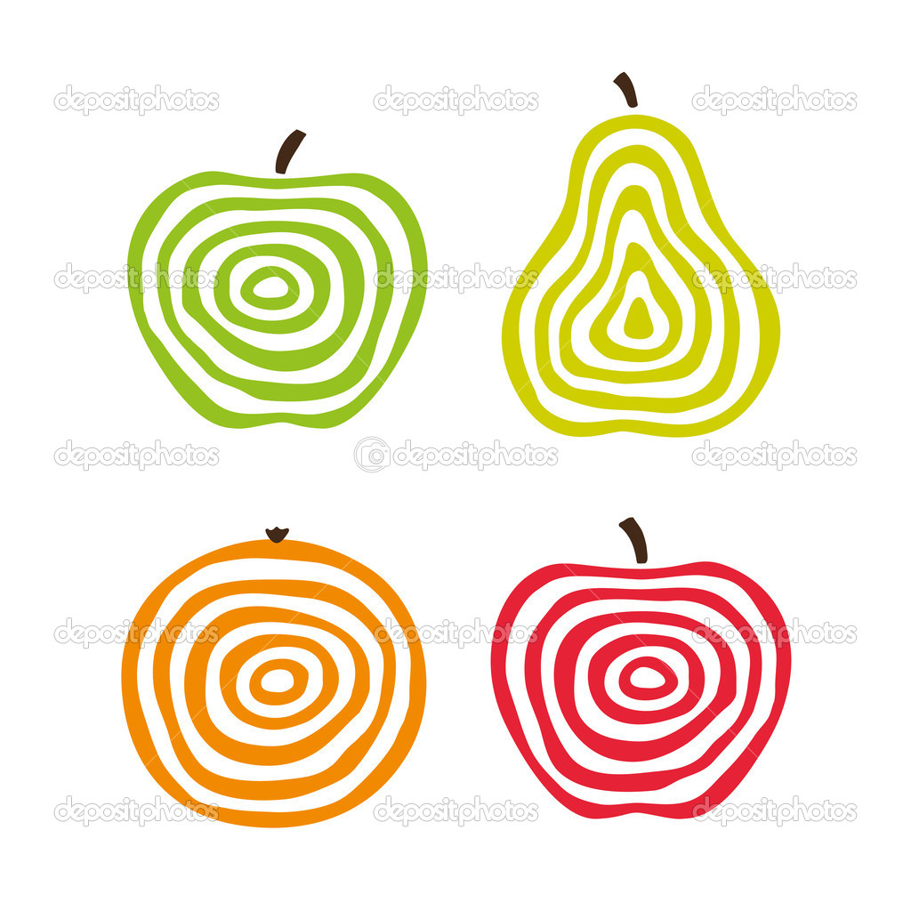 Stylized fruits