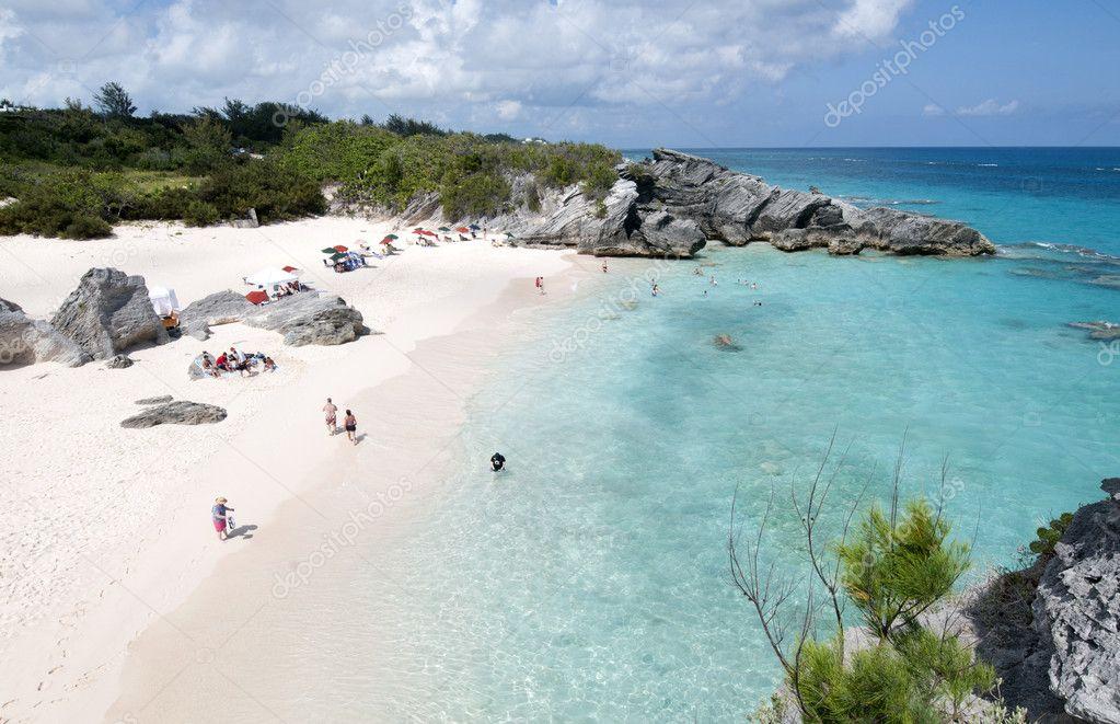 Beach in Horshoe bay Bermuda