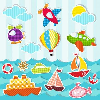 """Картина, постер, плакат, фотообои """"море и воздушный транспорт"""", артикул 10652445"""