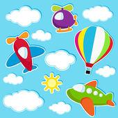 Fotografia cielo con adesivi di trasporto aria