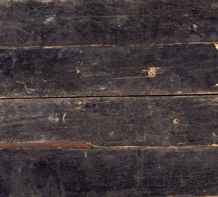 Wood vintage background of black plank