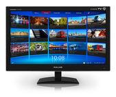 Širokoúhlý televizor s streaming video galerie