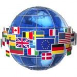 Worldwide international communication concept: clo...
