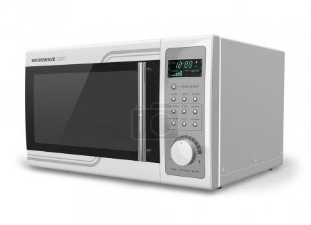 Photo pour Four à micro-ondes isolé sur fond blanc - image libre de droit