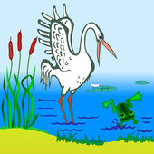 Stork and Frog