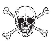 Skull and Crossbones isolated over white background