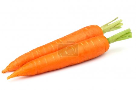 Photo for Two carrots on a white background - Royalty Free Image