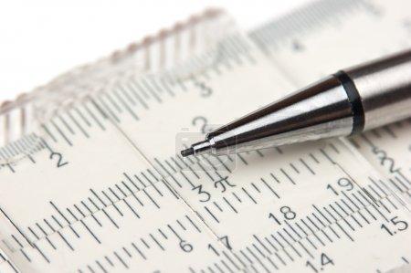 Vernier scale old logarithmic ruler