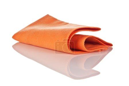 serviette de microfibre pour le nettoyage isolé
