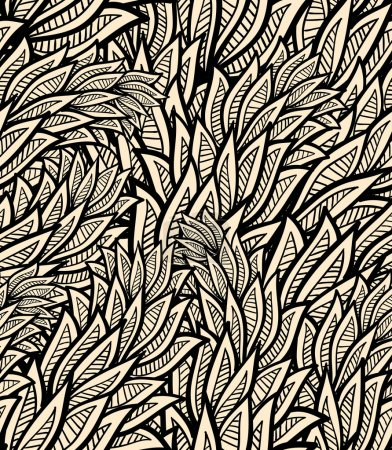 Illustration for Seamless pattern with leaves, vector format - Royalty Free Image