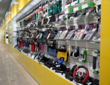 Photo for Electronic gadget in store. Blured - Royalty Free Image