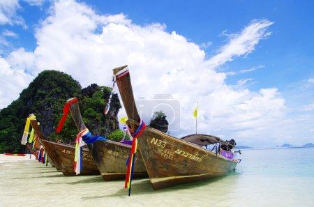 Boats in Andaman Sea