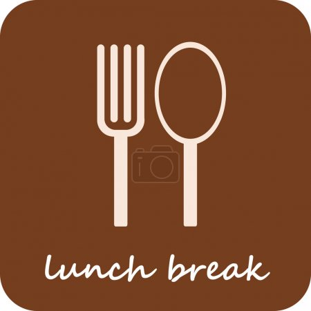 Lunch Break - isolated vector icon