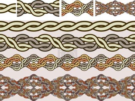Illustration pour Ornements nationaux celtiques de tissage dans un vecteur pour pinceaux - image libre de droit