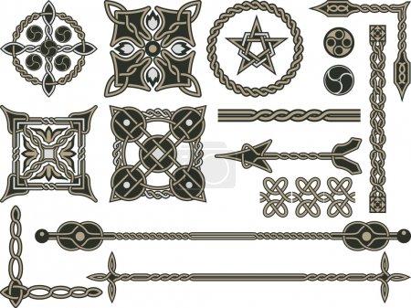 Illustration pour Eléments traditionnels celtiques pour le design dans un vecteur - image libre de droit