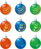 Vector Balls xmas set color 01